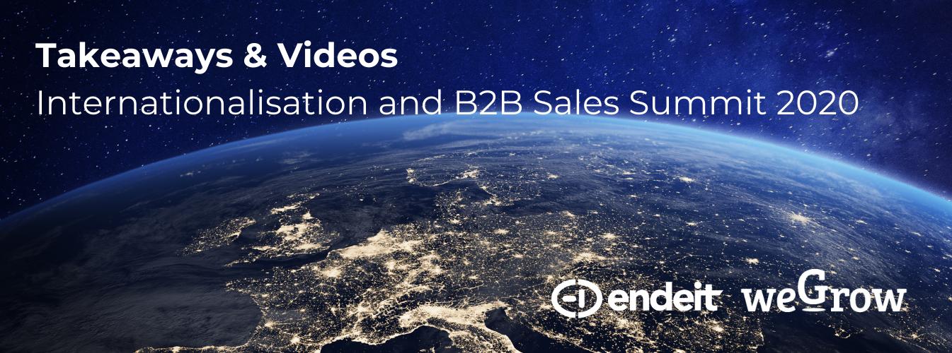 Takeaways & Videos Internationalisation and B2B Sales Summit 2020.
